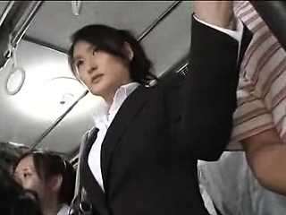 Japanese public bus blowjob and be thrilled by