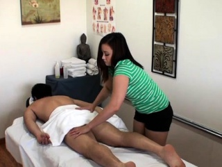 Lewd masseur enjoys playing close by the brush stud's weasel words