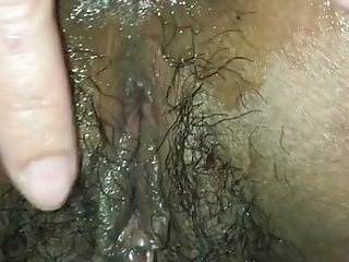 Asian fingering tight asshole hairy pussy