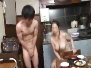 Naked Japanese Mama Fat Tits