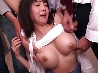 Miho Ichiki gets gangbang fro train 2