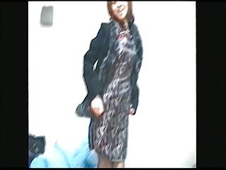 Japanese woman's wife interesting off China dress