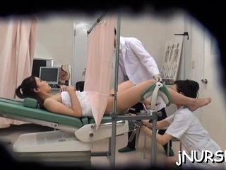 Gripping nurse nudity adjacent to her asian snatch exposed