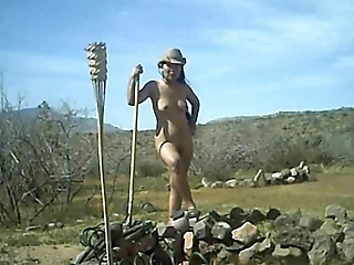 Nude unmasculine work essentially wage-earner outdoor
