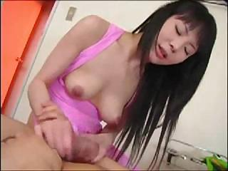 Unhealthy day makes his Japanese girlfriend`s nipples very hard