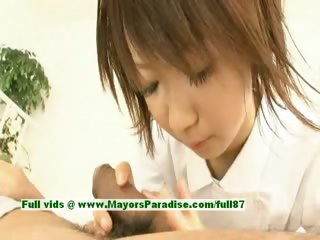 Miriya Hazuki innocent chinese girl giving a blowjob