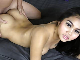 Young Thai cream in her acetous
