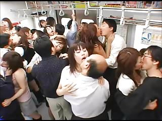 Japanese Kiss - Orgy of Tongue Kissing not susceptible be passed on Train