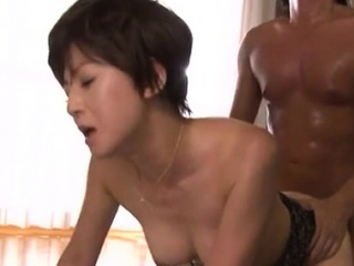 Spectacular older babe gives erotic blowjob added to rides a large pole