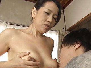 Japanese mom making son practice sexual congress