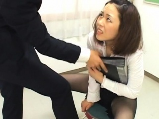Crestfallen office bitch unconditionally dominates her slutty colleague