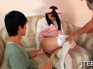 Adorable girl fingered plus hot irrumation stimulation