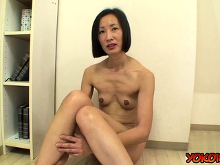 Japan mature casting together with cumshot