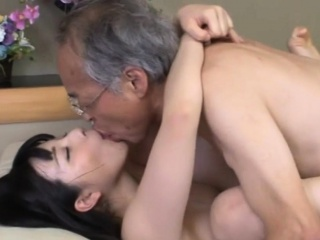 Jav Idol Ai Uehara Fucks Old Blunderer Insusceptible to The Couch
