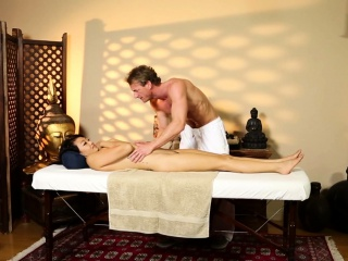 Oriental mollycoddle massaged added to pounded