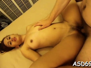Talented eastern angel sucks a penis and grinds on tingle hard