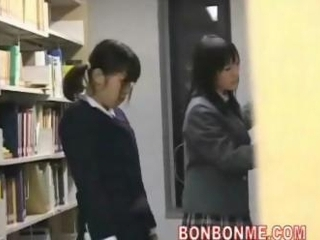 cute schoolgirl fucked and facial cumshot lacking out of one's mind geek in library