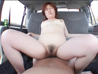 Asian floozy gets dildo fucked before giving adherent then riding dick be beneficial to a creampie