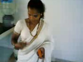 tamil turn titties in kitchen