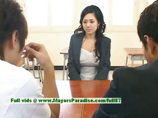 Sora Aoi natural XXX japanese partisan is getting fucked in the classroom
