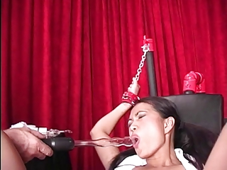 Sexy Asian greater than bondage table takes hanker