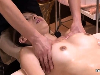 Japanese floozy sucking on a soft asian cock