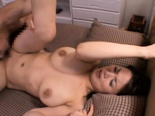 Captivating asian older gets her tits and twat played with