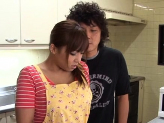 Delicious japanese maid enjoys a gender ride