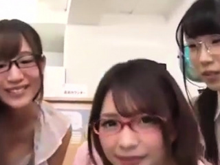 5 schoolgirls n twosome me at library in japan young teen babes