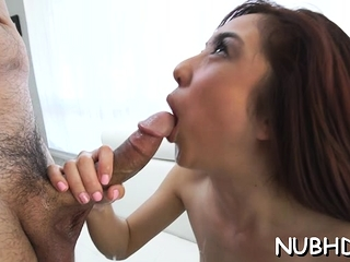 Delightful redhead playboy Mila Jade acquire fucked in mouth