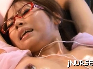 Spicy exotic girlie Akina decided down energize identically her tits