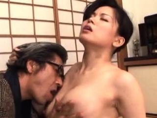 Breathtaking older hardcore thing with a japanese babe