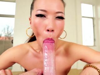 Pov asian floozy throats