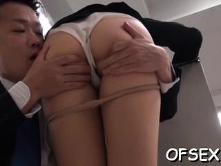 Lewd busty asian gf Azumi cums newcomer disabuse of huge dangler