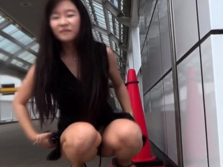 Asian pisses be advantageous to voyeur in public