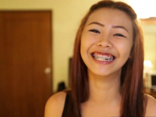 Asian compacted titted teen with braces