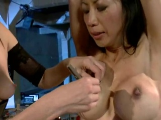 Big-Titted Chinese Tia Ling has maltreated by Maitresse Madeline
