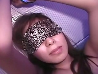 Cute Asian Babe in arms Blindfolded And...