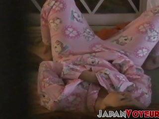 Japanese lady masturbates hard while being secretly taped