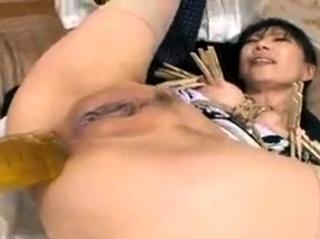 Asian establishing chick regard highly her toys masturbation