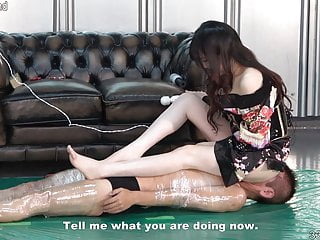 Japanese Dominatrix Rui in Housecoat Facesitting