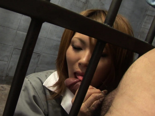 Japanese Rio Haruna is doggedly sucking dick chuck-full