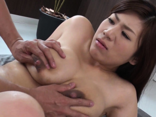 Shove around housewife, Satomi Katayama got nailed, sated