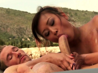 MILF Relaxes Using Oriental Techniques Of Love