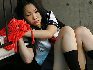 Sweet schoolgirl, Ai Mizushima is moaning alien pleasure