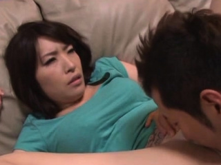In agreement older japanese babe gives a boiling blowjob