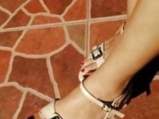 Sri Lankan beautiful Feet with Heels 02