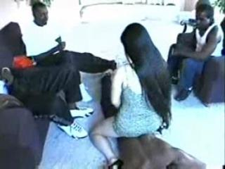 Petite Asian Suzi Suzuki is gangbanged wide be required of a bunch be required of black hoods.