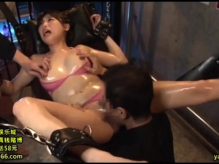 Asian MILF blistering hot threesome with unskilful coupling