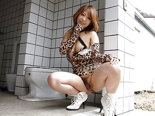 Japanese minx, Yuria Takeda got a rear fuck, uncensored